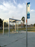 YRT bus stop Stock Images