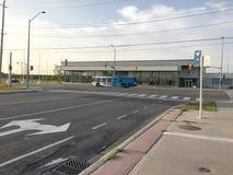 YRT/Viva Bus framme av YMCA arkivfoto