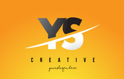 YS Y S Letter Modern Logo Design with Yellow Background and Swoo Royalty Free Stock Image
