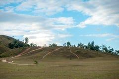 Łysa góra, trawy góra, trawy góra dzwoni Khao Hua Obrazy Stock