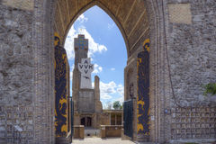 Yser tower seen trough the Pax gate Royalty Free Stock Image