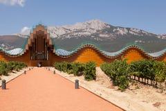 Ysiosbodega, LaGuardia, La Rioja, Spanje Stock Afbeelding