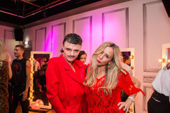 YSL Beauty Host The #YSLBeautyClub Party In Collaboration With Sink The Pink Stock Photos