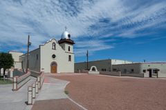 Ysleta Mission. Exterior of the Ysleta Mission church on Zaragosa Road in El Paso Royalty Free Stock Photography