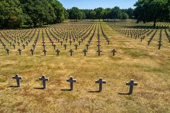 Ysselsteyn German military war cemetery royalty free stock image