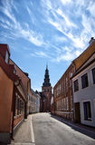 Ystad church 03. A street view image of an old medieval church in the swedish town of Ystad Royalty Free Stock Images