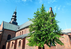 Ystad church panorama Stock Images