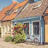 Ystad cottages Royalty Free Stock Images