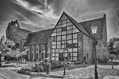 Ystad Monastery mono Stock Photos