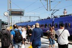 Ystad railway station stock photography