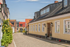 Ystad Street Life. Street scene from the Swedish town of Ystad Stock Images