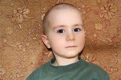 Łysy chłopiec portret Fotografia Royalty Free