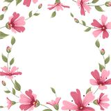 Łyszczec babys oddechu kwiatu granicy ramy wianek Zdjęcia Royalty Free