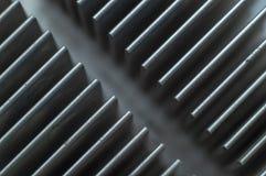 Ytbehandla aluminiumkylflänsplattan arkivfoto