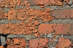 Ytbehandla av brickwork 1 Royaltyfri Fotografi