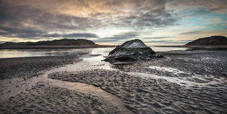 Ythan Estuary & Wreck in Scotland. Royalty Free Stock Photos