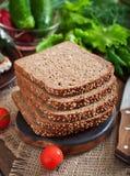 Żyto chleb z otręby obraz stock
