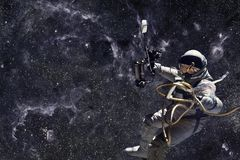 ytterkant avstånd för astronaut arkivbild