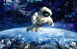 ytterkant avstånd för astronaut stjärnaturism royaltyfria bilder