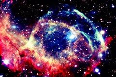 ytterkant avstånd för färgrik nebula arkivfoton