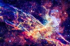 ytterkant avstånd för färgrik nebula royaltyfria foton