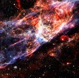 ytterkant avstånd för färgrik nebula royaltyfria bilder