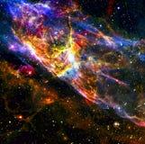 ytterkant avstånd för färgrik nebula arkivbilder