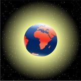 ytterkant avstånd för jord Arkivfoto