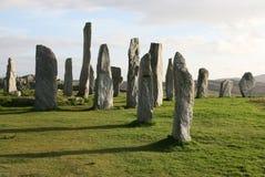 ytterkant sten för callanishcirkelhebrides royaltyfri foto