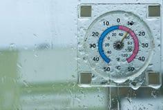 ytterkant tearful termometer arkivfoto