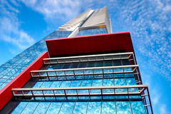 yttermodernt för abstrakt arkitektonisk byggnad arkivbilder
