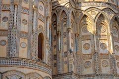 Yttersida av absid - Monreale Royaltyfri Foto