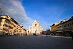 Yttersida av basilikan av Santa Maria Novella Arkivfoton