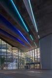 Yttersida av BMW Cenral byggnad på en ljus molnig dag Fotografering för Bildbyråer
