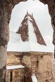 Yttersida av den Corvin slotten, Rumänien Royaltyfri Bild