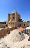 Yttersida av den Dormition abbotskloster, Jerusalem Royaltyfri Fotografi