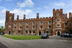 Yttersida av den Eton högskolan, Berkshire, England Royaltyfria Bilder