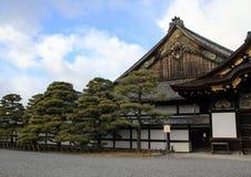 Yttersida av den Ninomaru slotten av den Nijo slotten Royaltyfri Foto