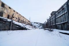 Yttersida av det övergav fängelset Royaltyfri Foto