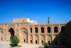 Yttersida av det berömda al-Mustansiriyauniversitetet och Madrasah, Baghdad Irak Royaltyfria Foton