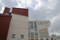 Yttersida av det Rusakov huset av kultur i Moskva, Ryssland arkivbilder