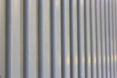 Yttersida av det trapezoidal metallarket Arkivfoto