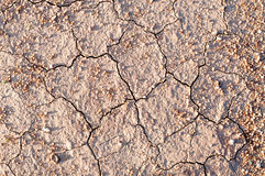 Yttersida av en grungy torr knäcka förtorkad jord för textural baksida fotografering för bildbyråer