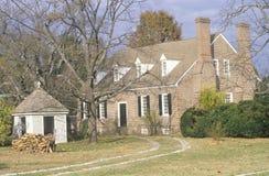 Yttersida av födelseorten av George Washington Arkivfoton