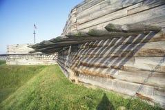 Yttersida av fortStanwix den nationella monumentet, Rome NY arkivfoton