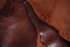 Yttersida av gammalt läder Royaltyfri Bild
