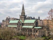 Yttersida av Glasgow Cathedral Arkivfoto