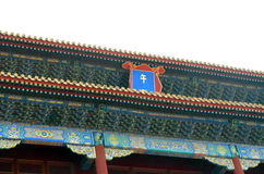Yttersida av Hallen av bönen för bra skördar av templet av himmel i Peking royaltyfria bilder