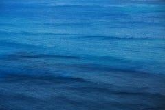 Yttersida av havet med små vågor Arkivfoto