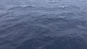 Yttersida av havsvatten på havet stock video